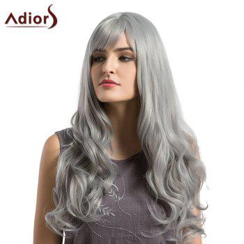 Adiors Long Layered See-Trough Fringe Curly Synthetic Wig -  GRANNY HAIR