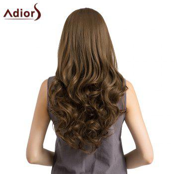 Adiors Long Layered See-Trough Fringe Curly Synthetic Wig -  BROWN