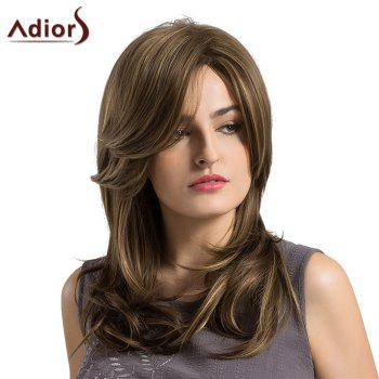Adiors Long Side Parting Highlight Layered Slightly Curled Synthetic Wig - COLORMIX COLORMIX
