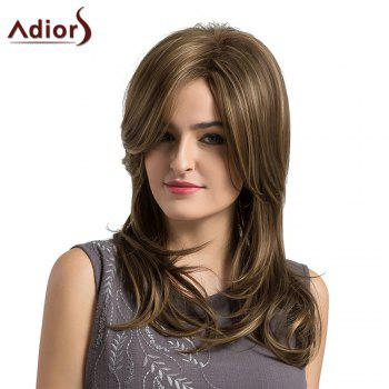 Adiors Long Side Parting Highlight Layered Slightly Curled Synthetic Wig -  COLORMIX