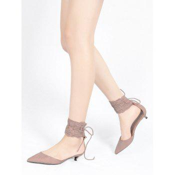 Two Pieces Ankle Strap Pointed Toe Sandals - 37 37