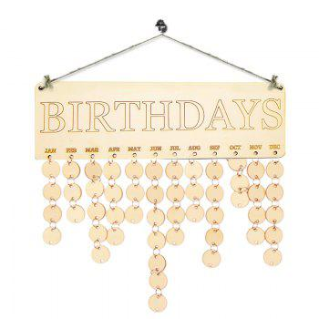 DIY Wooden Birthdays Calendar Reminder Board