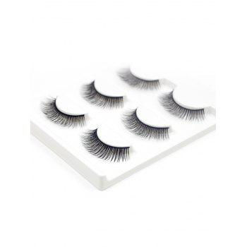 3 paires de fines extensions douces naturelles Faux cils -