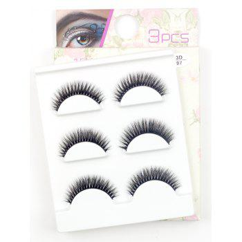 3 Pairs Natural Soft Long Extension Fake Eyelashes - #05