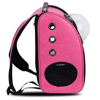 Breathable Space Capsule Grommet Backpack -  ROSE RED