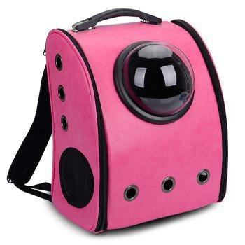 Breathable Space Capsule Grommet Backpack - ROSE RED ROSE RED