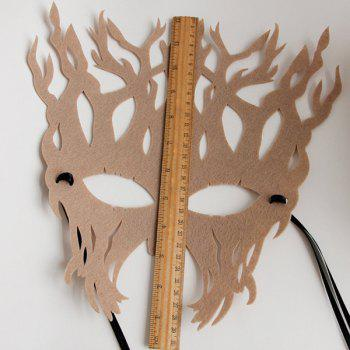 Tree Halloween Party Mask - KHAKI