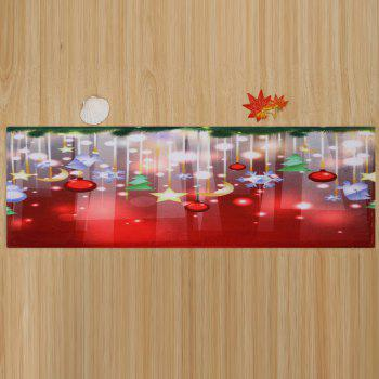 Christmas Baubles Stars Pattern Indoor Outdoor Area Rug - COLORMIX W24 INCH * L71 INCH