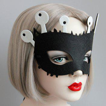 Funny Eyes Halloween Party Mask - BLACK