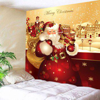 Father Christmas Printed Waterproof Wall Art Tapestry - W79 INCH * L71 INCH W79 INCH * L71 INCH