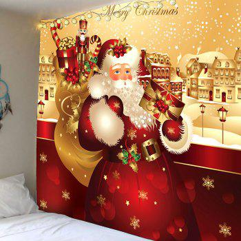 Father Christmas Printed Waterproof Wall Art Tapestry - COLORFUL W79 INCH * L71 INCH