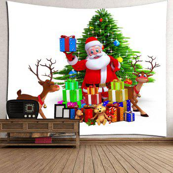 Waterproof Santa Claus and Christmas Gifts Wall Hanging Tapestry - W79 INCH * L71 INCH W79 INCH * L71 INCH