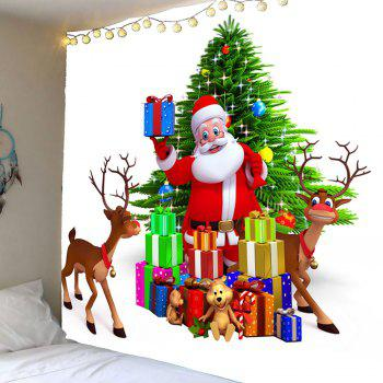 Waterproof Santa Claus and Christmas Gifts Wall Hanging Tapestry - COLORFUL W79 INCH * L71 INCH