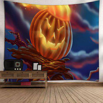 Pumpkin Lamp Wall Hanging Halloween Tapestry - COLORMIX COLORMIX