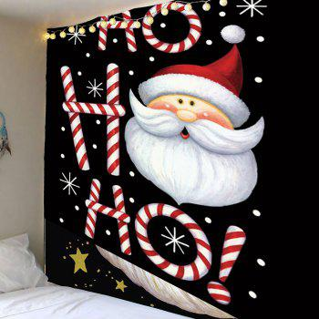 Santa Claus Head Pattern Wall Art Tapestry - COLORFUL W79 INCH * L71 INCH