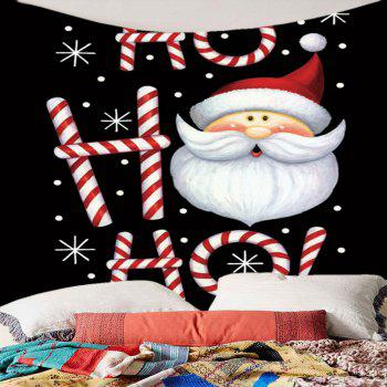 Santa Claus Head Pattern Wall Art Tapestry - COLORFUL COLORFUL