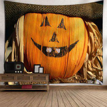 Halloween Smiled Graphic Wall Decor Tapestry - W91 INCH * L71 INCH W91 INCH * L71 INCH