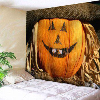Halloween Smiled Graphic Wall Decor Tapestry - ORANGE W91 INCH * L71 INCH