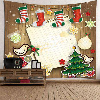 Christmas Sock Printed Wall Decor Tapestry - W79 INCH * L71 INCH W79 INCH * L71 INCH