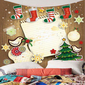 Christmas Sock Printed Wall Decor Tapestry - COLORFUL COLORFUL