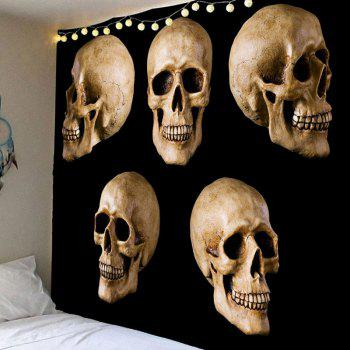 hanging halloween skulls printed waterproof wall tapestry - Halloween Skulls