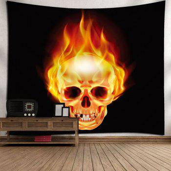 Wall Hanging Fire Skull Bedroom Tapestry - W71 INCH * L71 INCH W71 INCH * L71 INCH