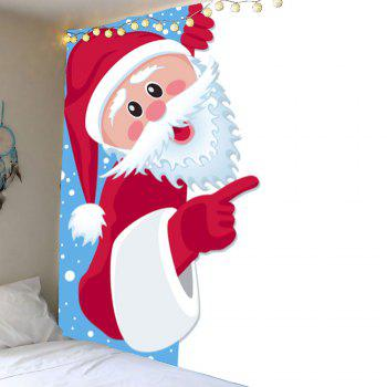 Santa Claus Printed Waterproof Wall Decor Tapestry - COLORFUL COLORFUL