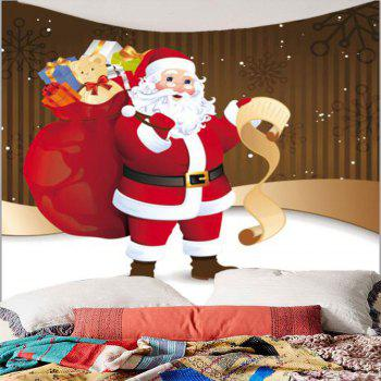 Santa Claus With Gifts Patterned Hanging Wall Tapestry - COLORFUL COLORFUL