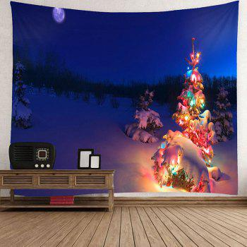 Christmas Tree Lighting Printed Waterproof Wall Art Tapestry - COLORFUL COLORFUL