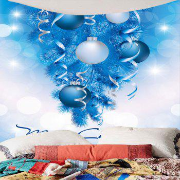 Balloons Printed Christmas Wall Decor Tapestry - BLUE/WHITE BLUE/WHITE