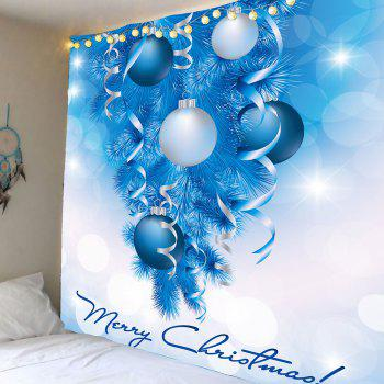 Balloons Printed Christmas Wall Decor Tapestry - BLUE AND WHITE W79 INCH * L71 INCH