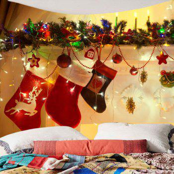 Christmas Socks Decorations Pattern Hanging Wall Art Tapestry - COLORFUL COLORFUL