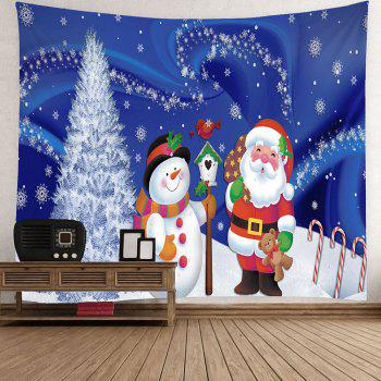 Waterproof Father Christmas and Snow Printed Wall Hanging Tapestry - W79 INCH * L71 INCH W79 INCH * L71 INCH