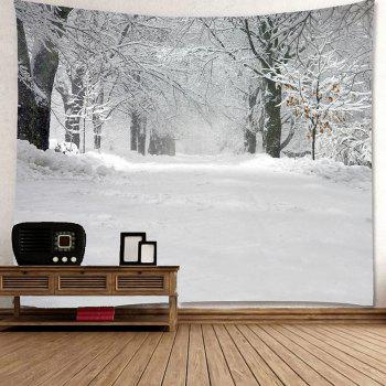 Snowfield and Forest Pattern Waterproof Wall Art Tapestry - W79 INCH * L71 INCH W79 INCH * L71 INCH
