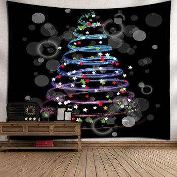 Waterproof Colorful Stars Pattern Christmas Wall Hanging Tapestry - W79 INCH * L71 INCH W79 INCH * L71 INCH