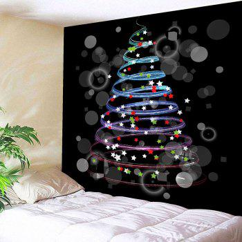 Waterproof Colorful Stars Pattern Christmas Wall Hanging Tapestry - COLORFUL W79 INCH * L71 INCH