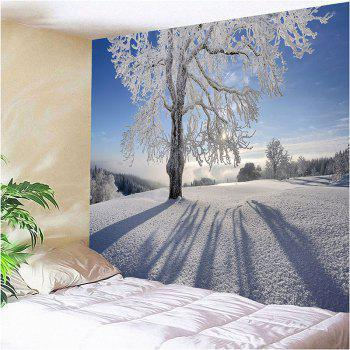 Snowfield Trees Pattern Waterproof Wall Decor Tapestry - W79 INCH * L71 INCH W79 INCH * L71 INCH