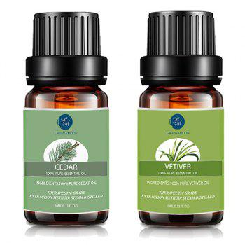 Cedar and Vetiver Essential Oil Set Top 2 - MULTI multicolor