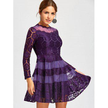 Lace Mini A Line Dress - S S