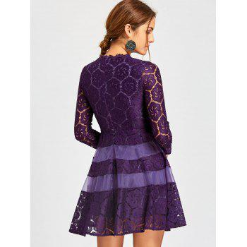 Lace Mini A Line Dress - 2XL 2XL