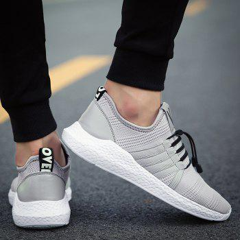 Mesh Tie Up Athletic Shoes - 41 41