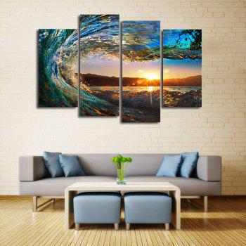 Sunset Wave Print Unframed Canvas Painting