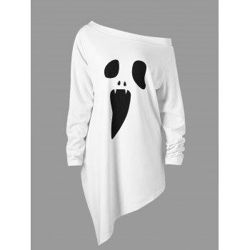 "<P>Halloween Plus Size Skew Neck Asymmetric Graphic Sweatshirt</P><I Class=""Icon Down Js Tap Up Down""></I> by Dress Lily"