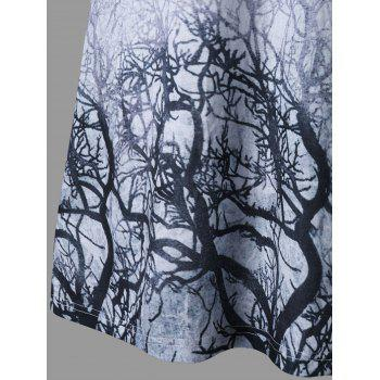Branches Imprimer Marled Tee Dress - Gris L