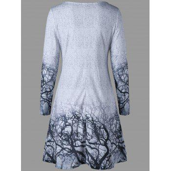 Branches Imprimer Marled Tee Dress - gris 2XL