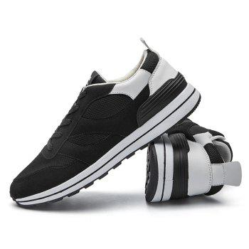 Color Block Low Top Mesh Athletic Shoes - WHITE WHITE