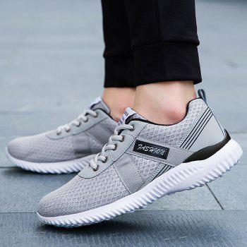 Tie Up Mesh Breathable Sneakers - DEEP GRAY DEEP GRAY