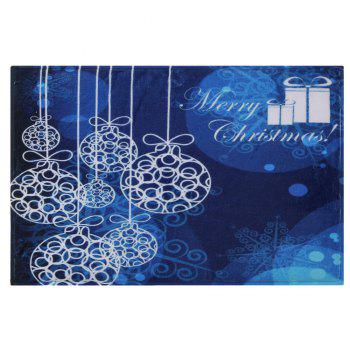 Merry Christmas Graphic Antiskid Bath Mat - Bleu W16 INCH * L24 INCH