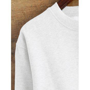 Raw Edge Cropped Sweatshirt - WHITE S