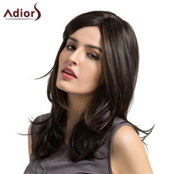 Adiors Medium Highlight Side Parting Layered Slightly Curled Synthetic Wig - COLORMIX COLORMIX